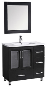 "Design Element B36-DS | Stanton 36"" Single Sink Vanity Set in Espresso"