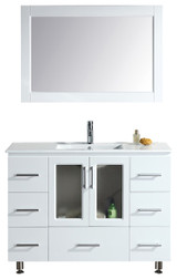 "Stanton 48"" Single Sink Vanity Set with Drop-In Sink in White"