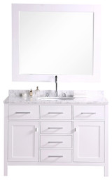 "London 48"" Single Sink Vanity Set in White"