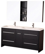 "Design Element DEC079A | Perfecta 63"" Double Sink Vanity Set in Espresso"