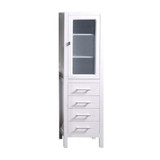 Design Element CAB004-W | London 66inch Linen Cabinet