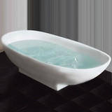 Cambridge Plumbing Cultured Marble Pedestal Tub 71 Inch