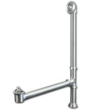 Cambridge Plumbing CAM1900LTB-BN Modern Lift & Turn Tub Drain with Overflow Assembly-Brushed Nickel