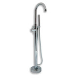 Cambridge Plumbing CAM150-CP Modern Freestanding Tub Filler Faucet with Shower Wand-Polished Chrome