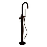 Cambridge Plumbing CAM150-ORB Modern Freestanding Tub Filler Faucet with Shower Wand-Oil Rubbed Bronze