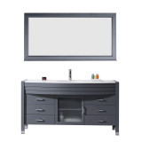 "Virtu USA Ava 61"" Single Bathroom Vanity Set in Grey 