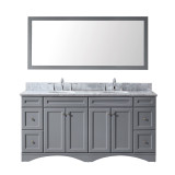 "Virtu USA Talisa 72"" Double Bathroom Vanity Set in Grey"