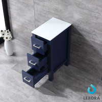 "Lexora Volez 12"" Navy Blue Side Cabinet 