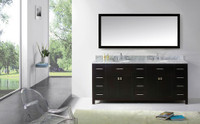 "Virtu USA Caroline Parkway 78"" Bathroom Vanity Cabinet in Espresso"