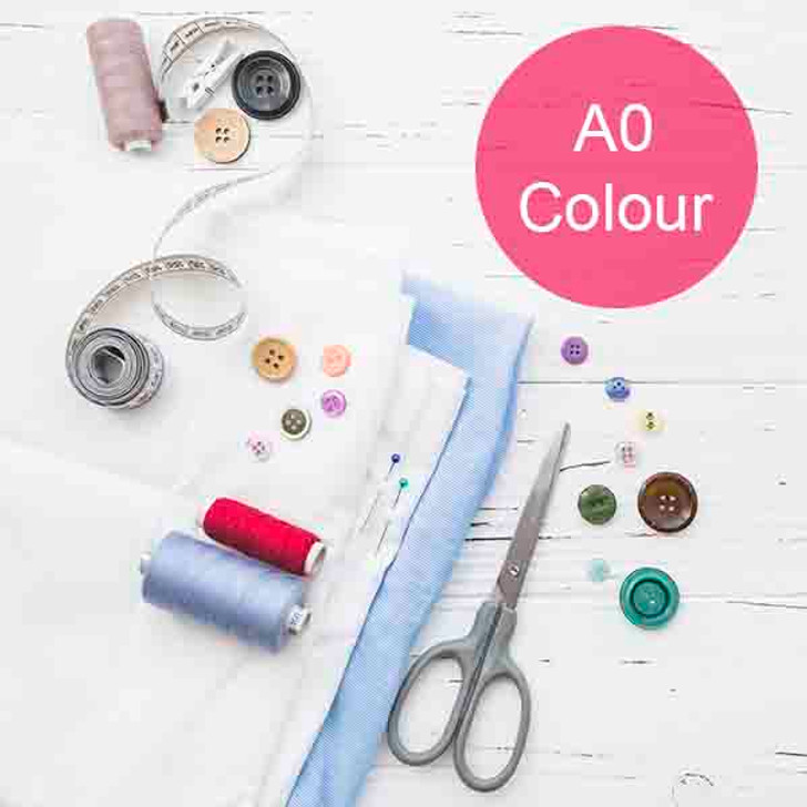 A0 Sewing Patterns Printing in Colour