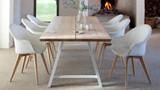 Avril highback dining chair oak base