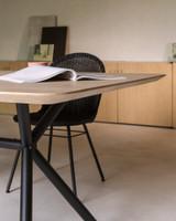 Yann dining chair steel A base