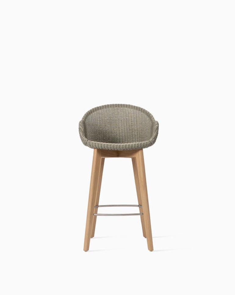 Avril counter stool oak base