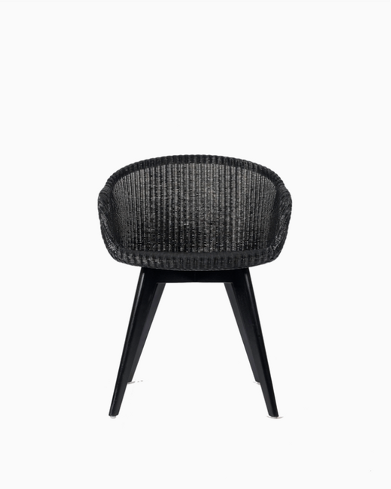 Avril dining chair black wood base