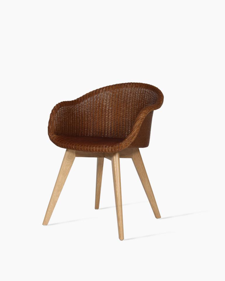 Avril dining chair oak base