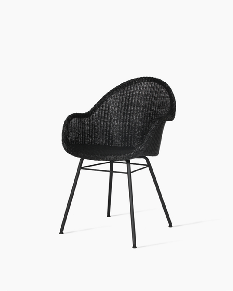 Avril highback dining chair steel A base