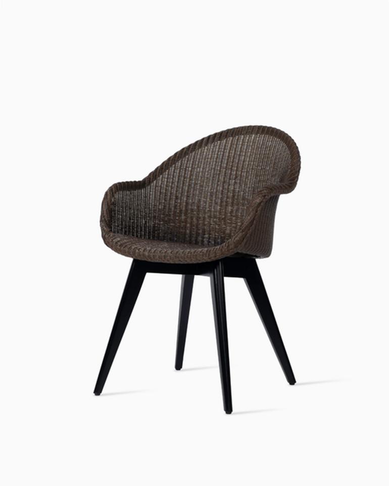 Avril highback dining chair black wood base