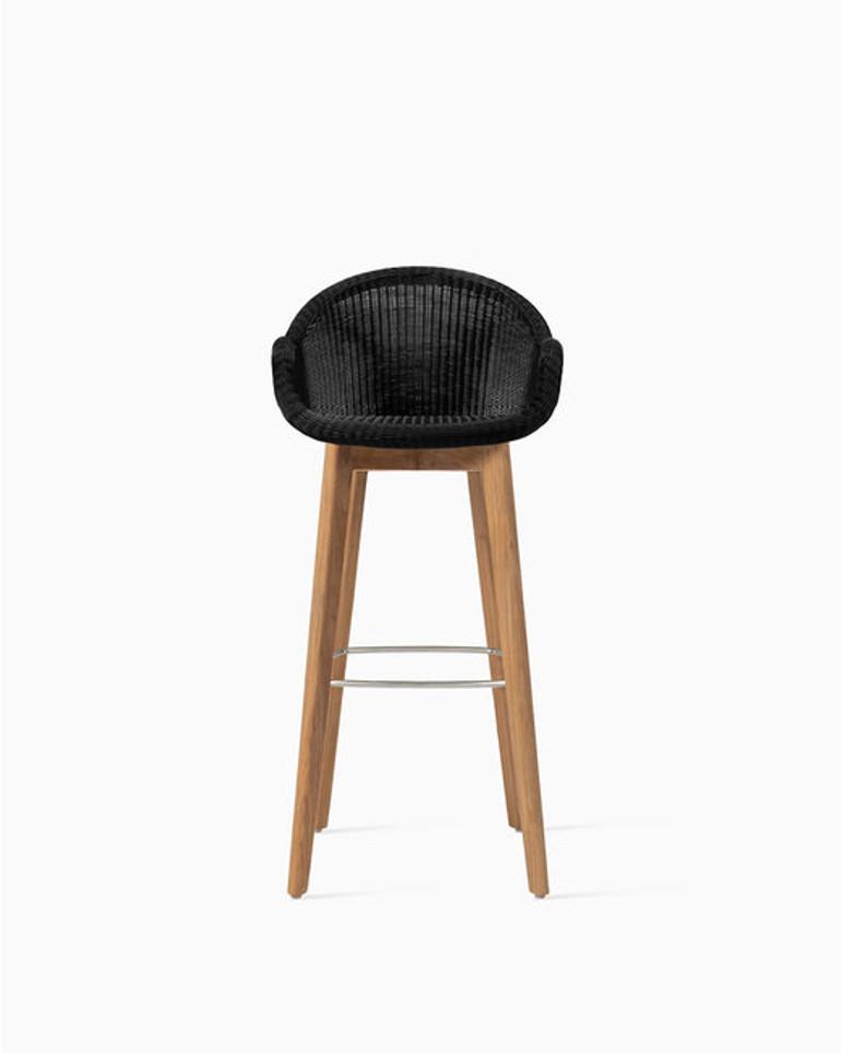 Edgard bar stool teak base