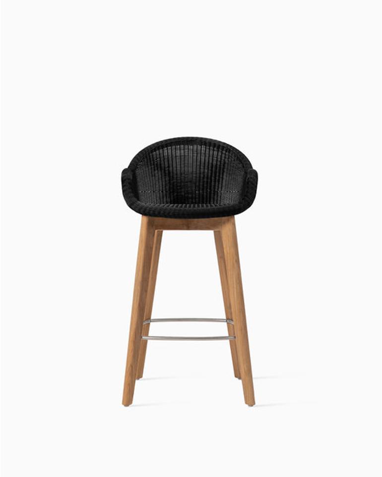 Edgard counter stool teak base