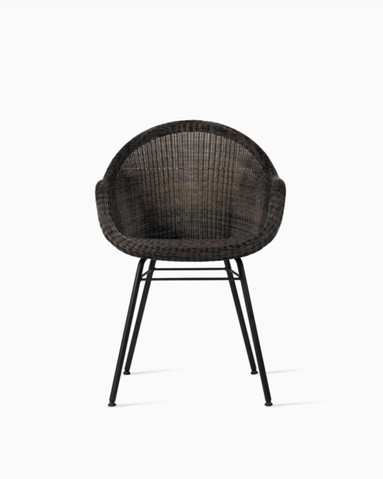 Edgard dining chair steel A base