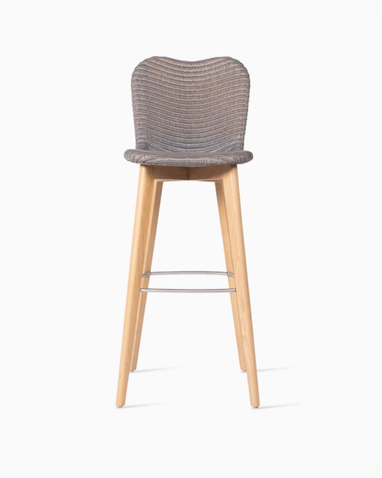 Lily bar stool oak base