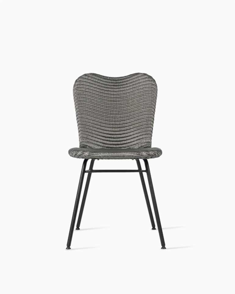 Lily dining chair steel A base