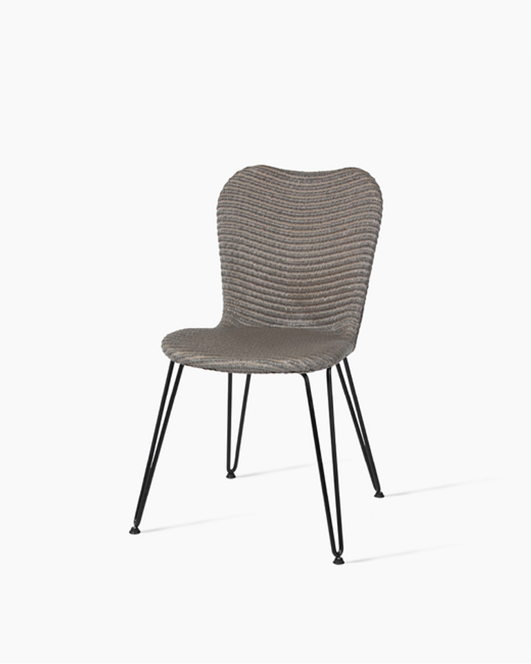 Lily dining chair black hairpin base