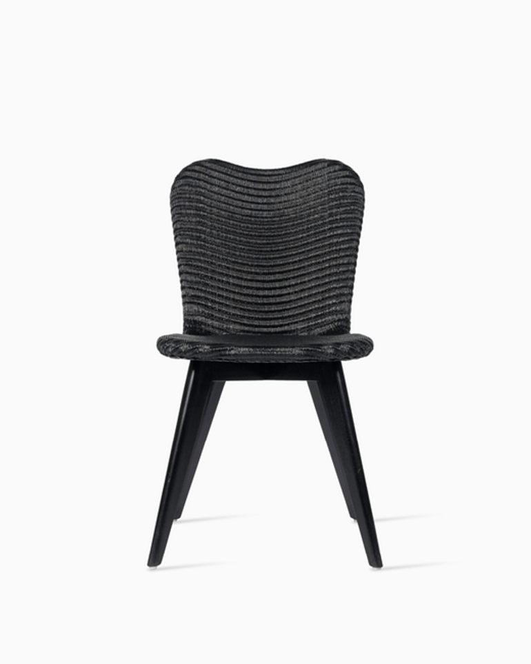Lily dining chair black wood base