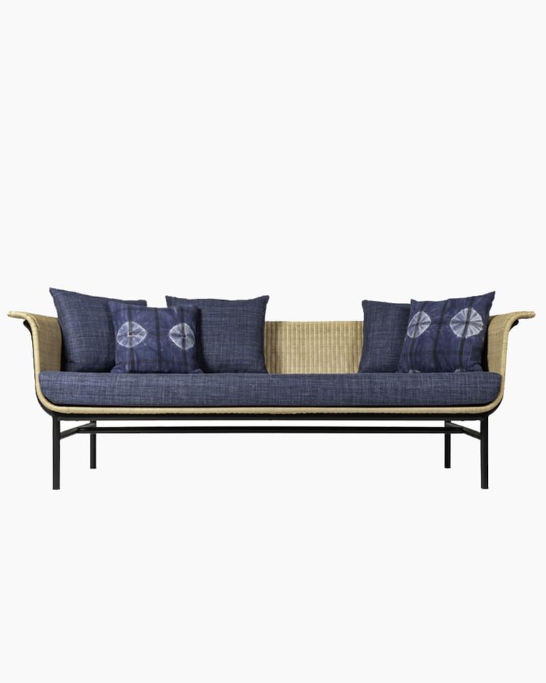 Wicked rattan 3-seater lounge sofa