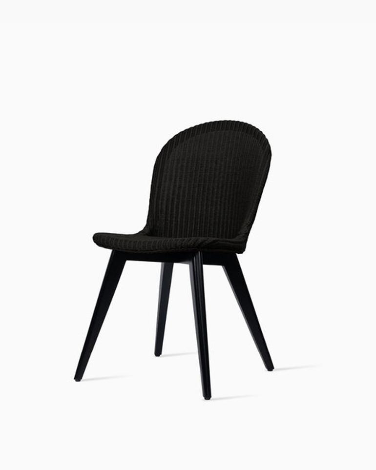 Yann dining chair black wood base