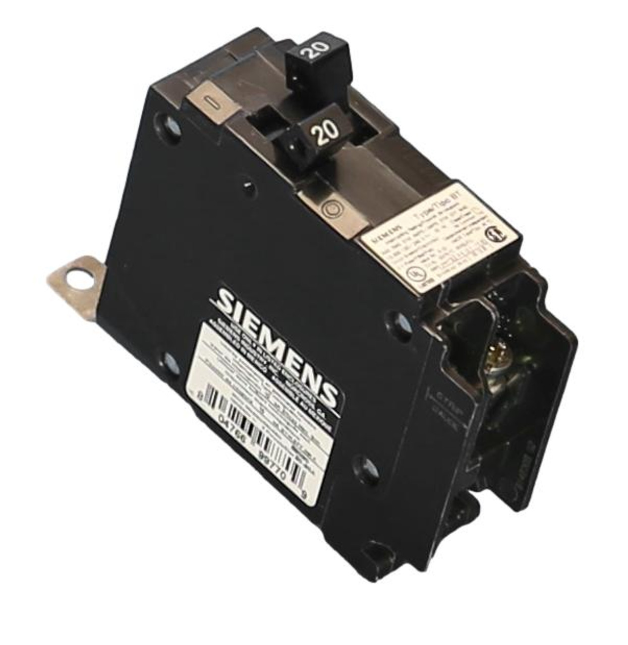 B2020 Duplex 20A-20A Bolt-on circuit Breaker New Product from Siemens