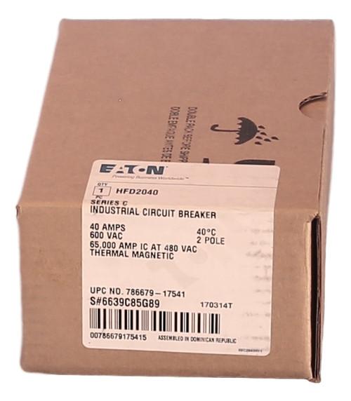 HFD2040 65k Rated Series C Eaton / Cutler-Hammer Circuit Breaker