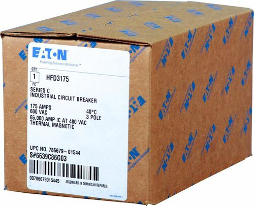 HFD3175S22 Shunt Trip Circuit Breaker with 120V Shunt by Eaton