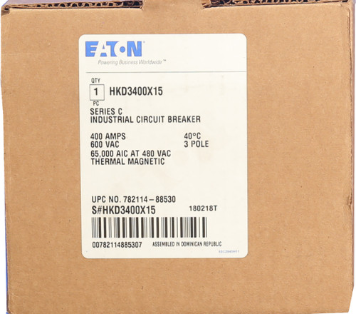 New in box. Eaton Includes-Frame Includes-Trip Unit 400 A Includes-Lugs and Lug Shield