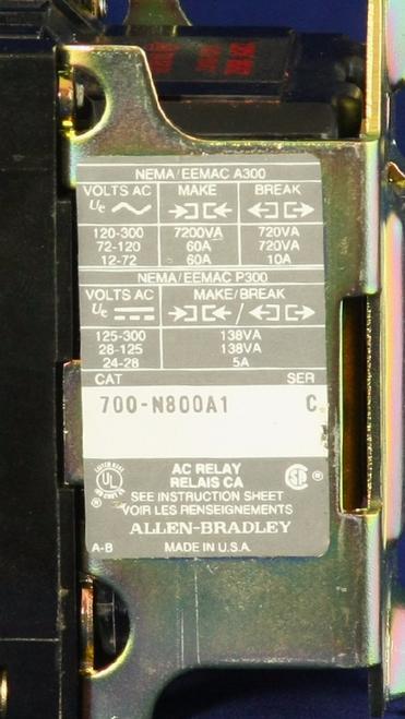 700-N800A1 Label Close-Up