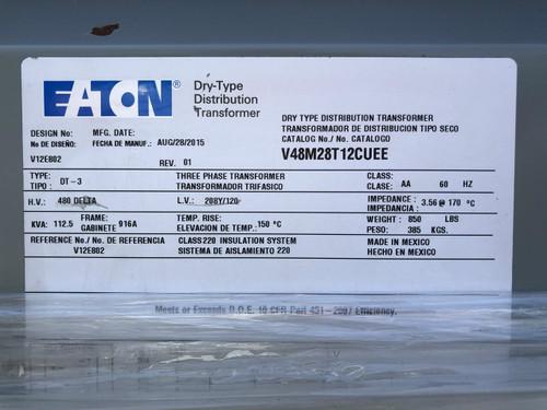 V48M28T12CUEE Label Close-Up