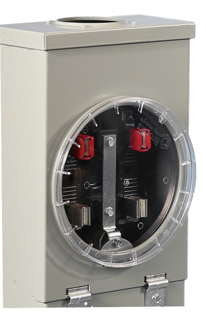 Meter Cover shown in place