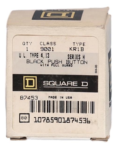 9001KR1B Square D Universal Black Push Button with Guard