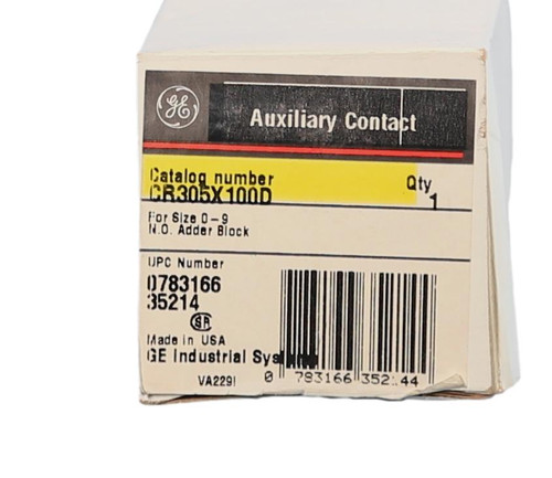 CR305X100D Auxiliary Contact Kit by GE