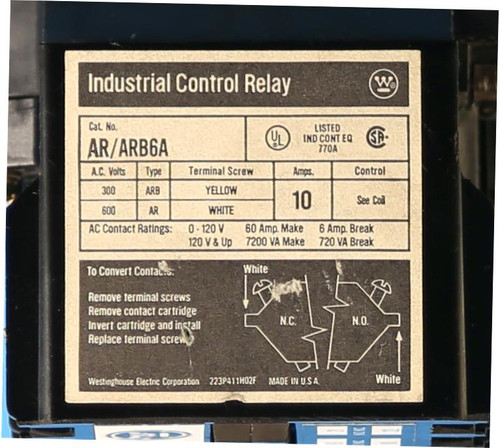 AR/ARB6A 10A Industrial Control Relay