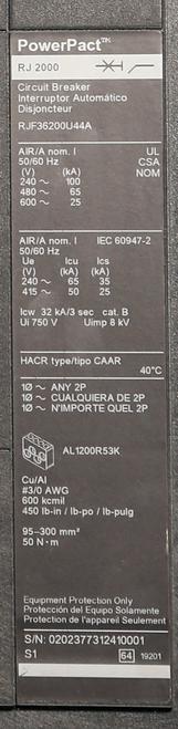 RJF36200U44A Information