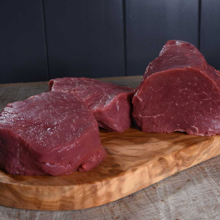 Dry aged Centre Cut of Fillet ideal for beef wellington or roasting as a piece for entertaining.