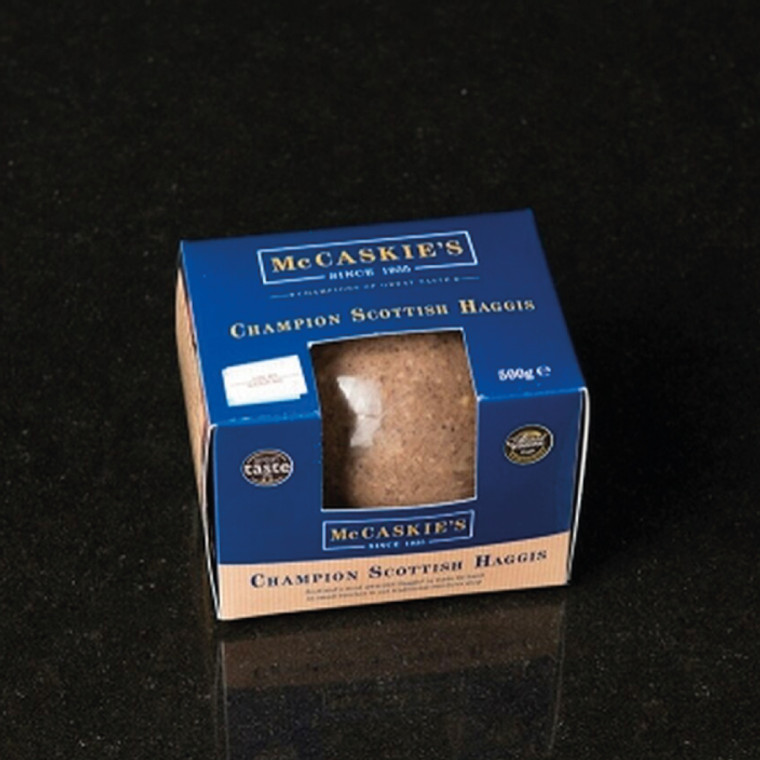 McCaskie's Haggis has been created with passion and dedication by Nigel over 20 years.