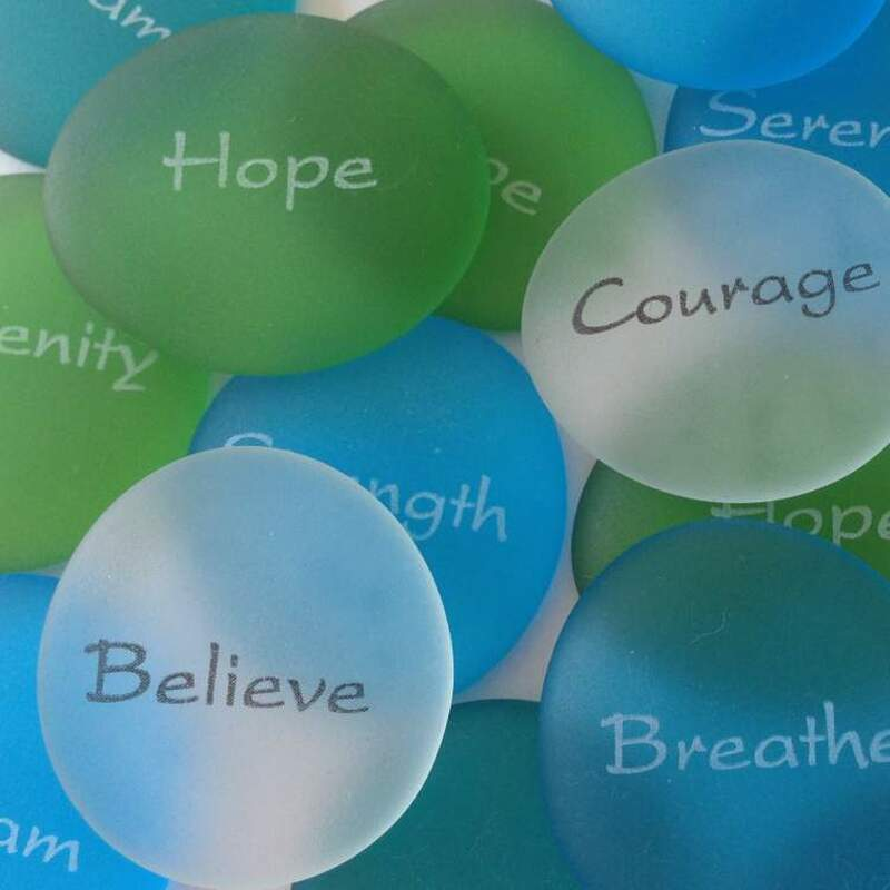 Sea Glass Stones in Motivational Words, Bulk Discounts