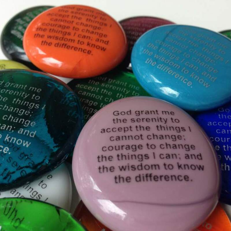 Serenity Prayer Glass Stones, Bulk Discounts