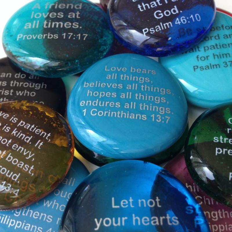 Inspirational Scripture Stones
