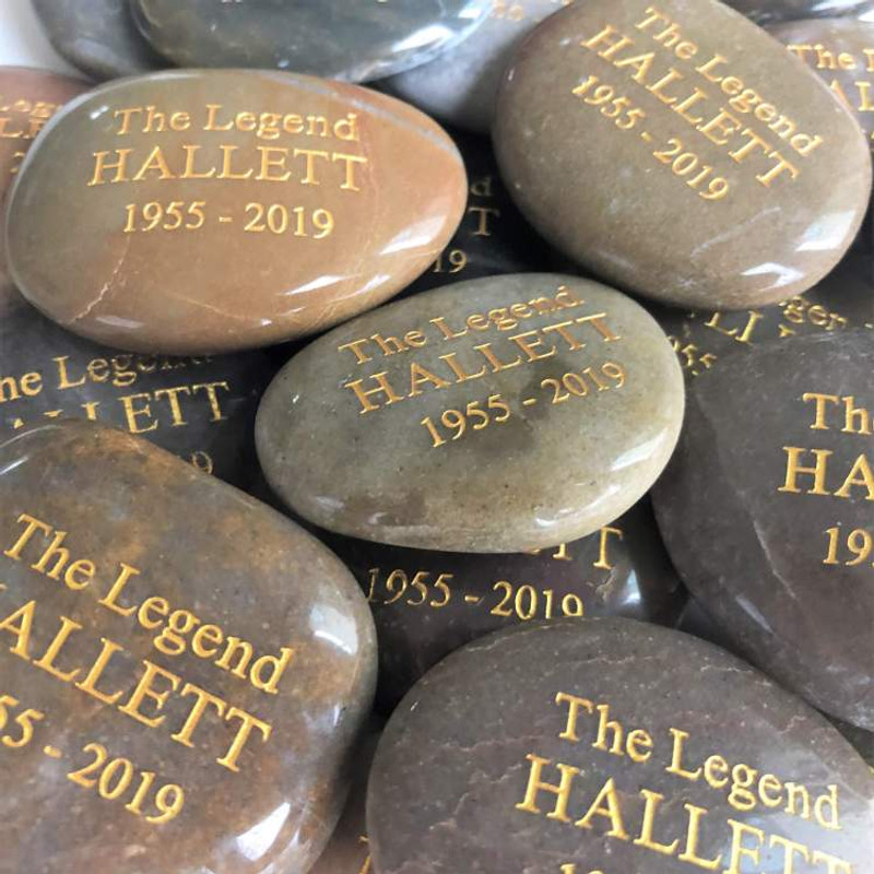 "Memorial Rocks  & Memory Stones, 1""-2"" Polished - Bulk Discounts"