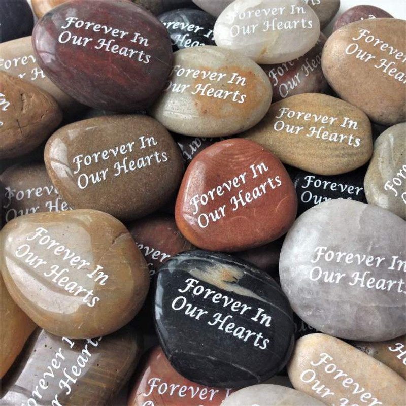 Inspirational River Rocks With Engraved Words Lovely Keepsake.