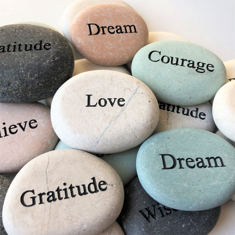 Assorted Inspirational Rocks, Set of 20 ($1.50 each)