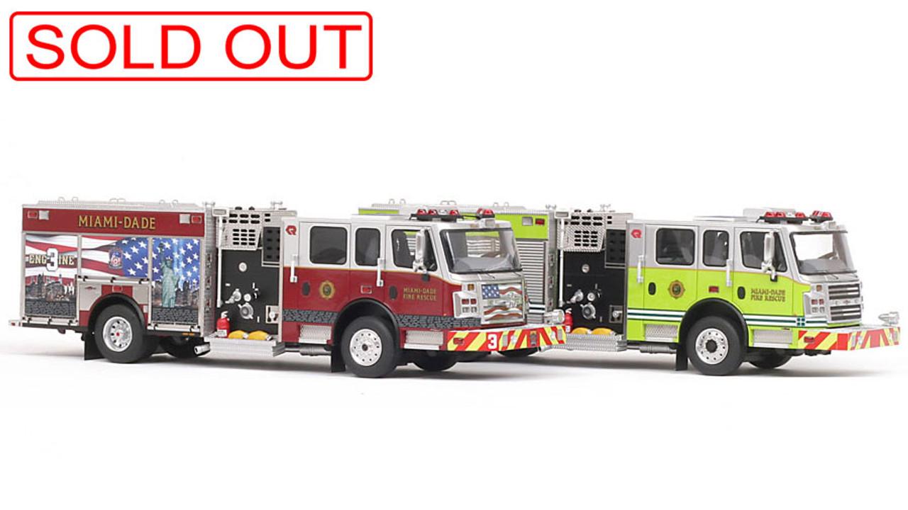 Miami-Dade Fire Rescue Rosenbauer Engine 2-piece Set